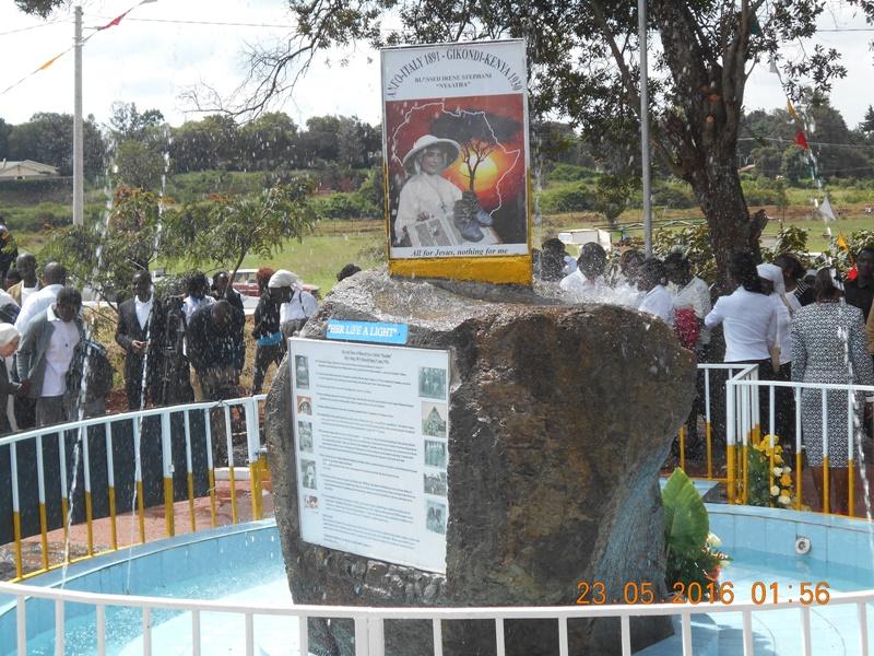 La fontana della Beata Irene Nyaatha